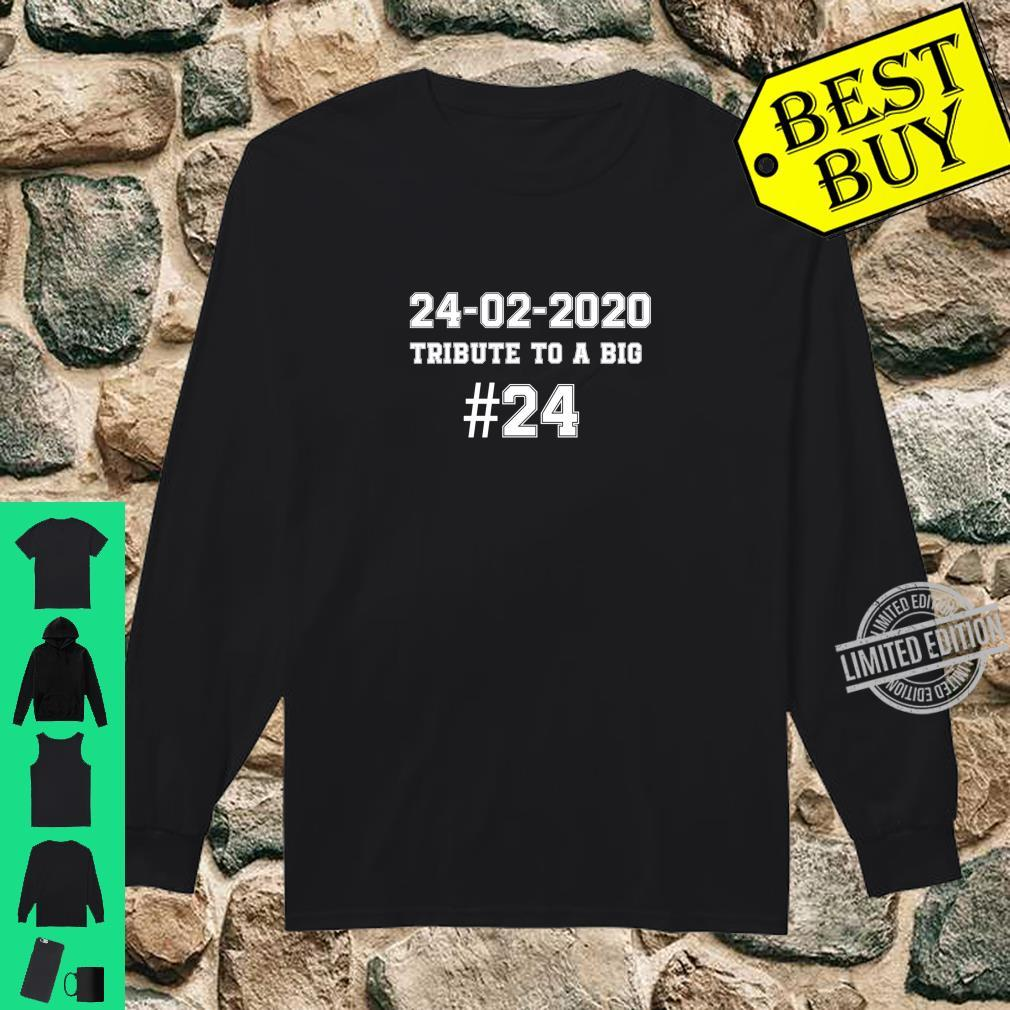 #24 TRIBUTE A TO BIG 2002.2020. #24 Shirt long sleeved