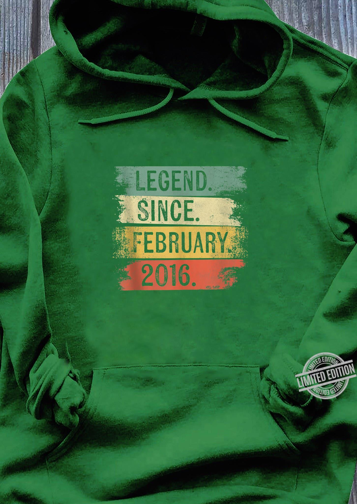4 Year Old Legend Since February 2016 4th Birthday Shirt hoodie