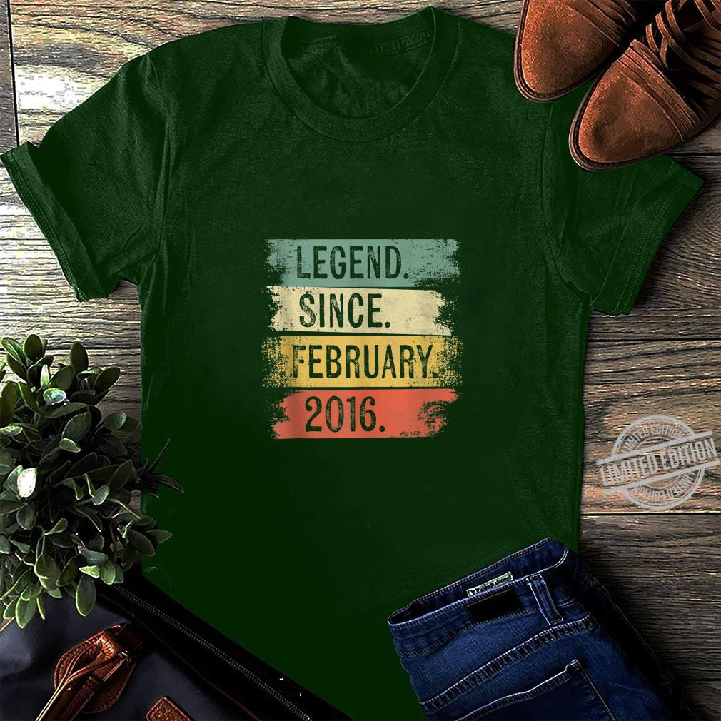 4 Year Old Legend Since February 2016 4th Birthday Shirt long sleeved