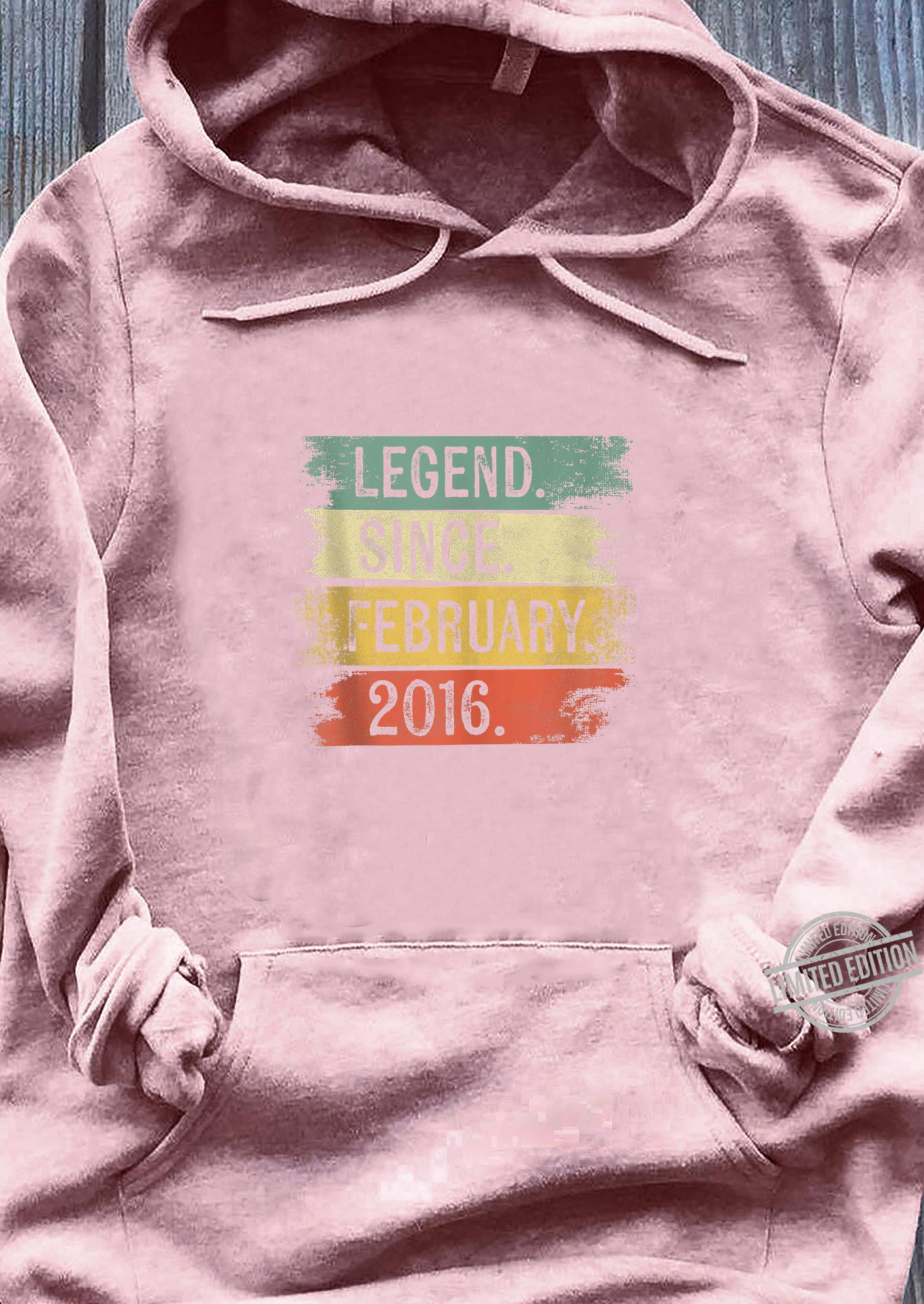 4 Year Old Legend Since February 2016 4th Birthday Shirt sweater