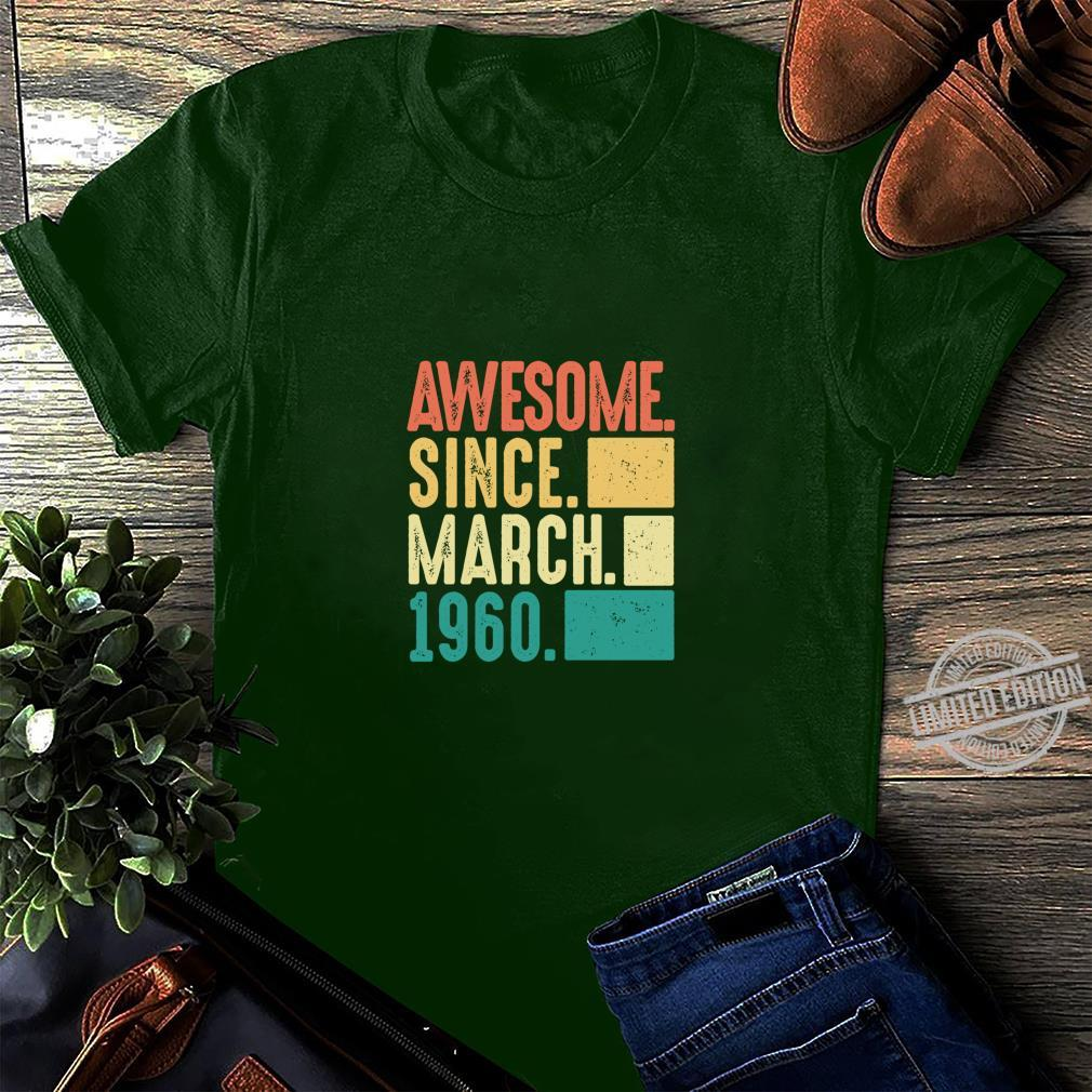 60. Geburtstag Geschenk März 60ster Awesome March 1960 Langarmshirt Shirt long sleeved
