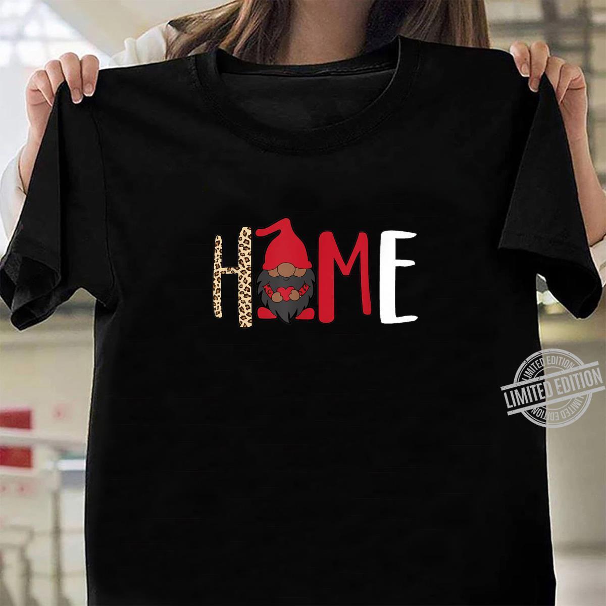 Afroamerikaner Gnome Home Valentines Melanin King Shirt ladies tee