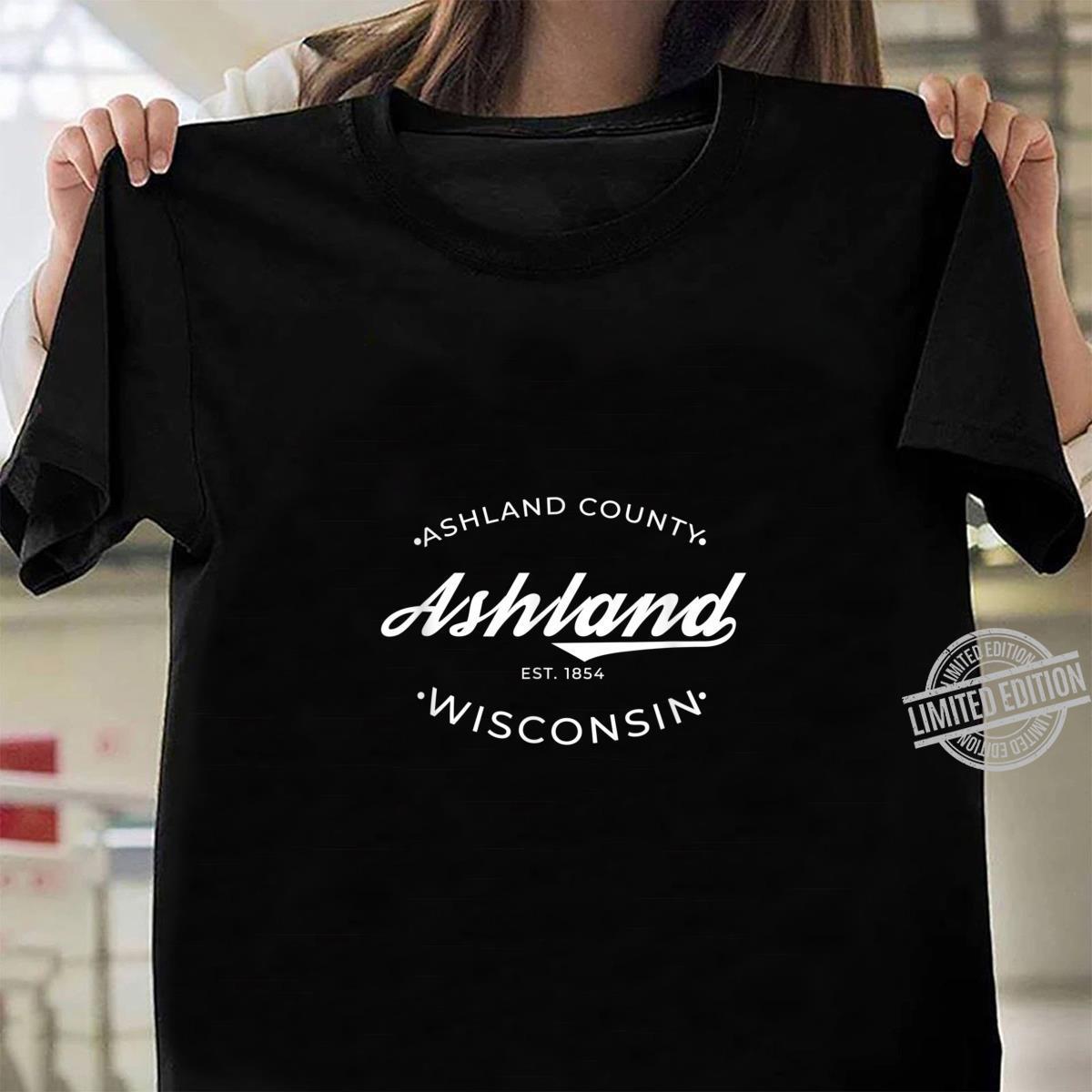 Ashland Wisconsin Retro Logo Shirt ladies tee