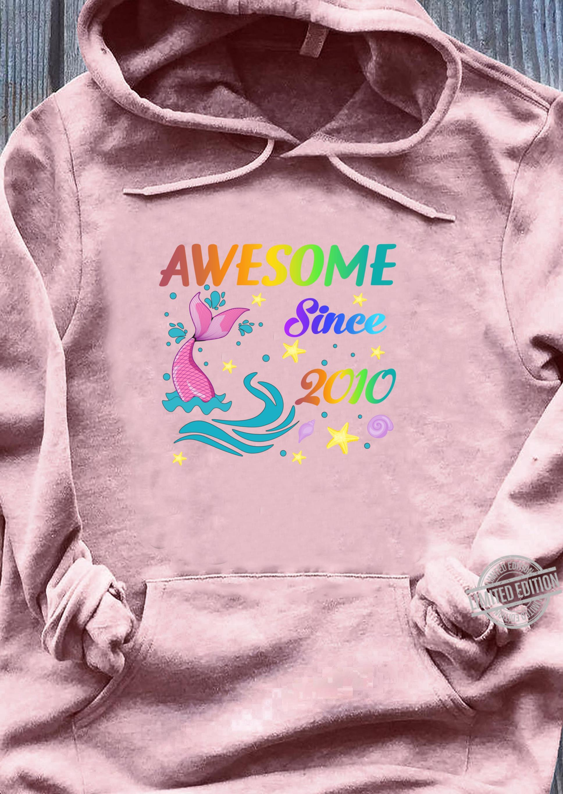 Awesome Since 201010th Mermaid Birthday Girls Party Shirt sweater