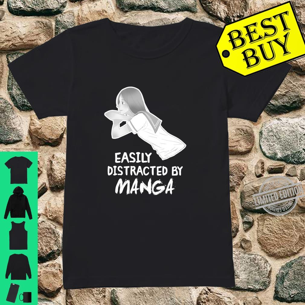 Easily Distracted By Manga For Otaku & Japanese culture Fans Shirt ladies tee