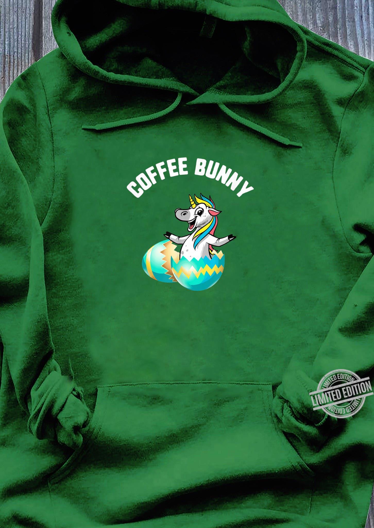 Easter Coffee Bunny Unicorn Egg Candy Spring Shirt hoodie