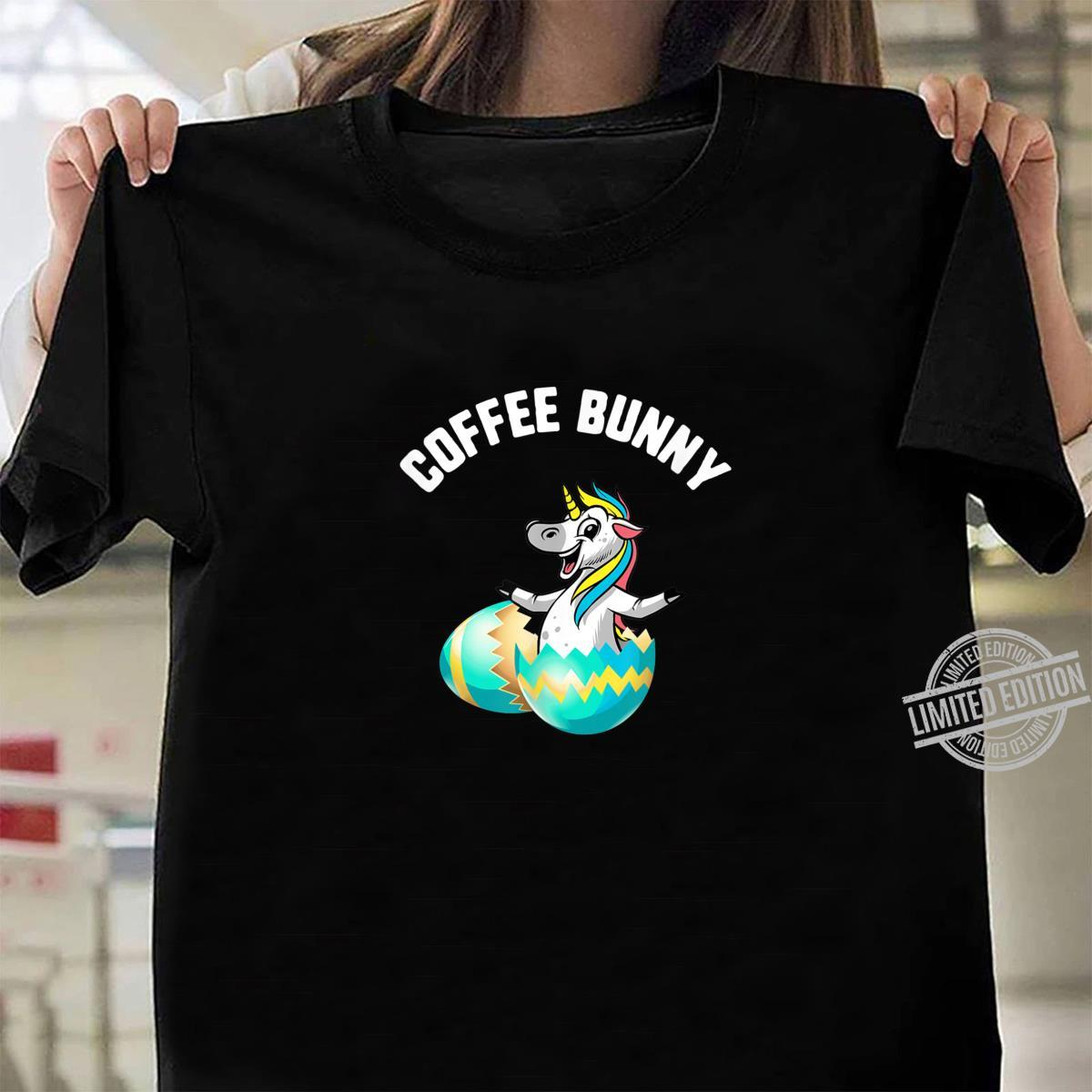 Easter Coffee Bunny Unicorn Egg Candy Spring Shirt ladies tee