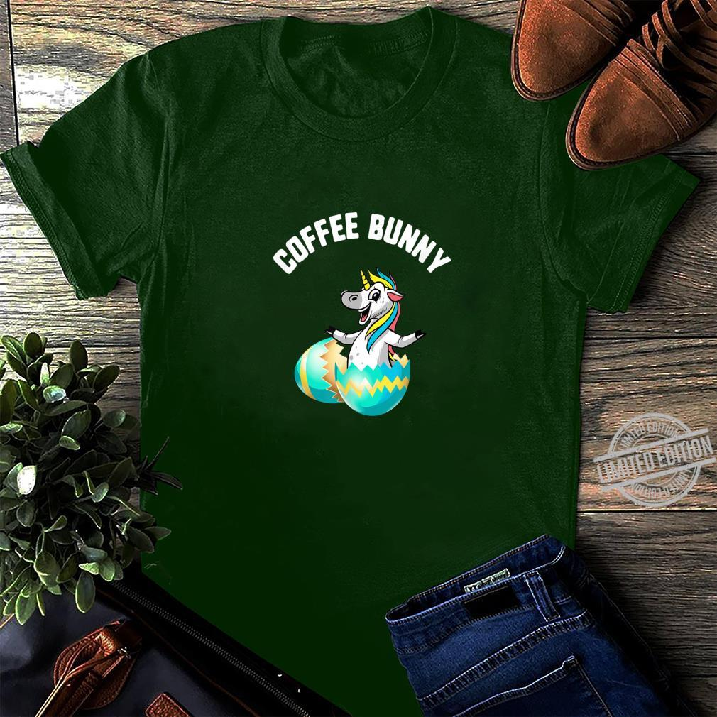 Easter Coffee Bunny Unicorn Egg Candy Spring Shirt long sleeved