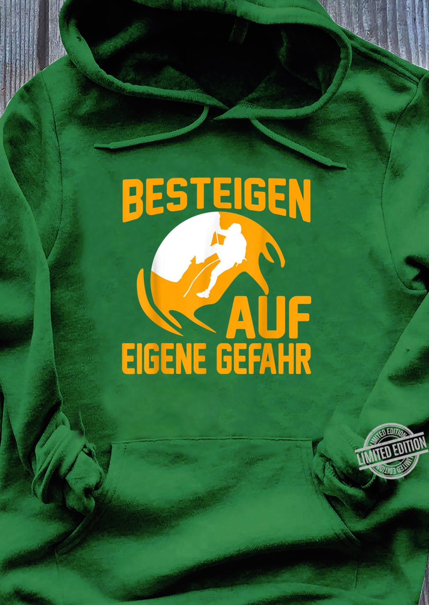 Klettern Bergsport Geschenk I Karabiner Kletterer Shirt hoodie