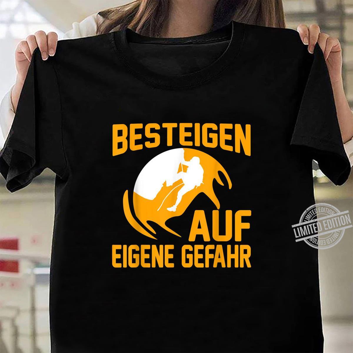 Klettern Bergsport Geschenk I Karabiner Kletterer Shirt ladies tee