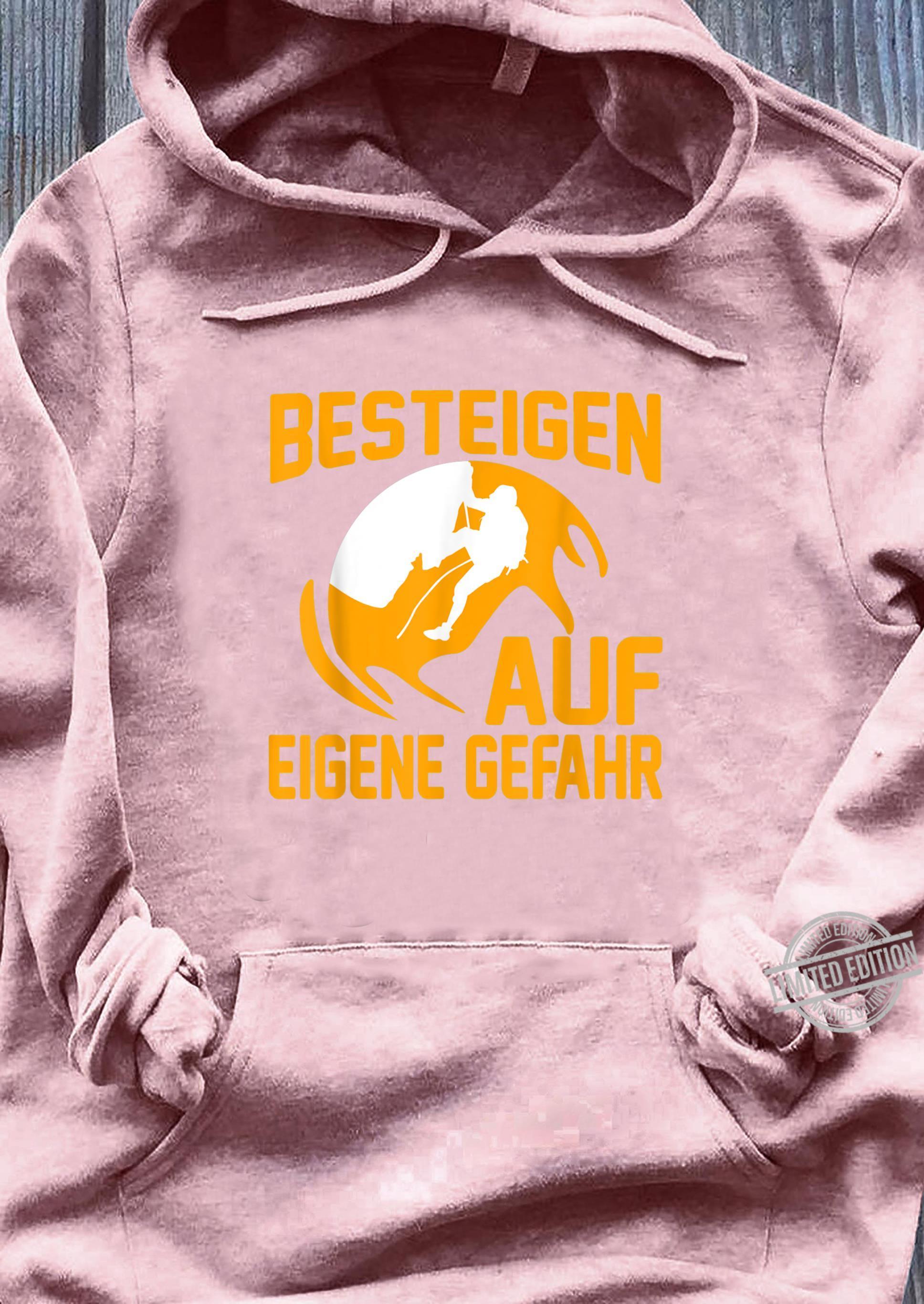 Klettern Bergsport Geschenk I Karabiner Kletterer Shirt sweater