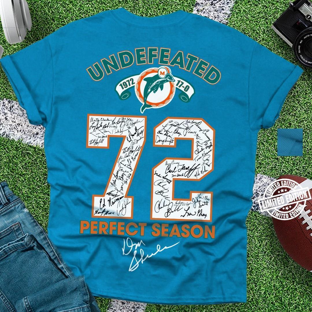 Undefeated 72 perfect season shirt